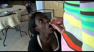 Dark-colored Maid Screwed By Her Employer