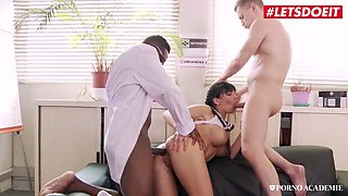 Letsdoeit busty school babe treats sickness with hot sex
