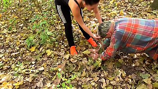 Update Mistress Ronja and Lady Lucy dominate slave outdoor