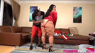 Voluptuous Latin Beauty With Massive Milk Jugs Is Having Sex With A Black Guy