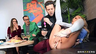 BRAZZERS Slutty Tiffany Squirts Guests at Potluck Party