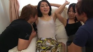 Pussy stimulation for these mature babes
