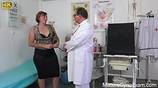 Horny Czech countrywoman examined by freaky doctor