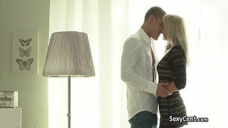 Hot couple fucking in bedroom
