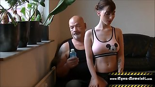 Oil massage my tits daddy