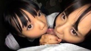 Naughty Japanese teens getting schooled in hardcore sex