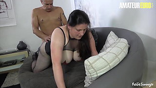 ReifeSwinger - BBW German Wife Tries Hard Anal With Husband