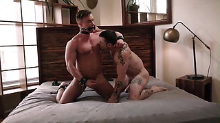 Training his new fuck boy