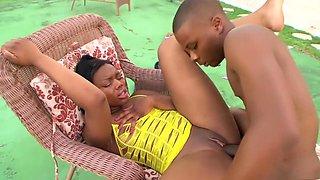 Hottest pornstar Jackie Ryan in amazing black and ebony, lingerie adult scene
