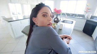 Hot fucking in the kitchen and bedroom in POV video - Brooke Beretta