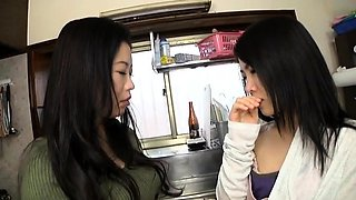 Sweet Japanese girls bring their lesbian fantasy to life
