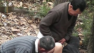 group old grandpa fuck in forest