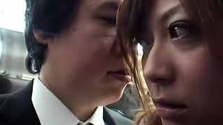 Hottest Japanese chick Haruki Sato in Horny Big Tits, Bus JAV movie