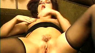 Two provoking babes in lingerie share their hunger for cock