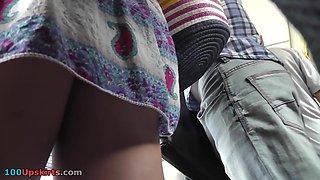Cool voyeur upskirt tumblr show tasty ass under skirt