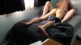 Horny gay lovers get naked and indulge in hot anal sex