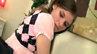 little schoolgirl has teen milk boobies