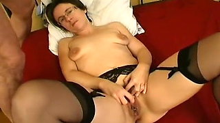 Pierced Milf in Stockings Gaping Anal Fuck and Facial