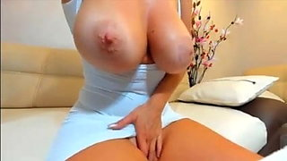 Goddess shows tits on webcam, perfect body!