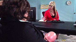 Big Tits at Work: Testing Her Concentration. Krissy Lynn, Johnny Sins