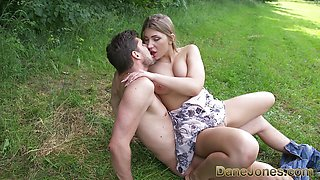 Sexy Natural tits Serbian teen takes fat cock