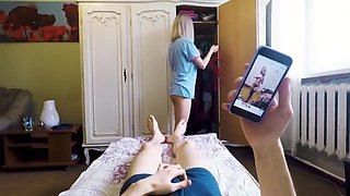 Step Sister Made Her Brother Cum Just Before Mom Came Home - Blackmailed
