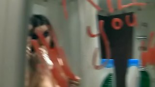 Hot girl squirting in front of everyone