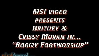 Crissy and Britney Lesbian Foot Worship
