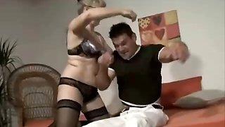 Slutty Blonde German Mature Cheating