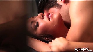 Stunning Spanish beauty Angelica Heart is taken in doggy and hardly fucked till she moans
