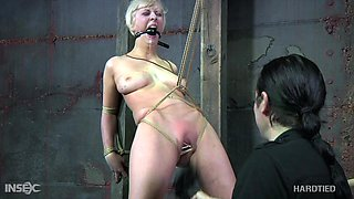 Hardcore BDSM porn video featuring suspended and punished Cherry Torn