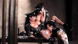 These two dirty police officers want his long and erected shaft