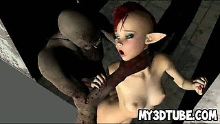 Sexy 3D cartoon fairy getting fucked by a goblin