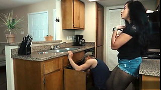 Lonely Latina Housewife Fucks the Plumber While Husband Is away