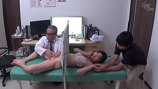 Doctor fucks Japanese woman while husband watches