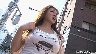 Torrid and cute buxom Japanese chick Yuki Tsukamoto fucks missionary