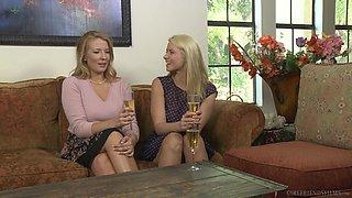 Lesbian Prinzzess seduces Shauna Skye into hardcore pussy licking