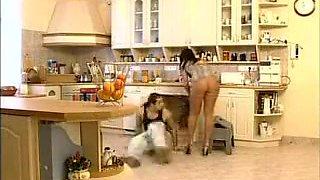 Horny Kitchen, Group Sex porn movie