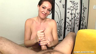 Naughty mature loves to pleasure her younger neighbor's penis