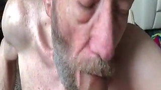 GRANDPA SUCKS AND SWALLOWS