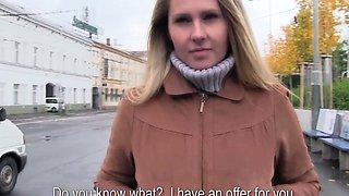 Euro girlnextdoor creampied in public