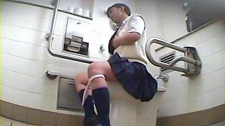 Frisky schoolgirl shot while masturbation on spy cam