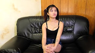 Delectable Filipino teen maid will do anything for money