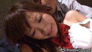 Cute school girl Rin oka fucked