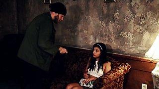 Brutal anal sex slave Poor little Latina teenager Gina Valen