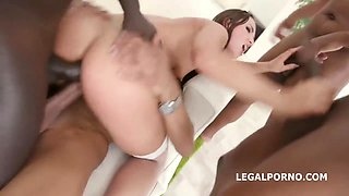 Kristy Black is having a real blast with a group of very horny black guys
