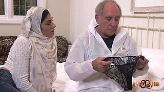 Sahara Knite - Arab Milf And Old Fat Wanker