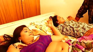 Two desi girls romance with one guy