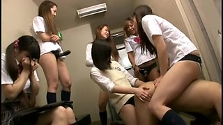 Japanese Large Group Thong On Fuck