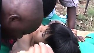 African sex slave group sex outdoors